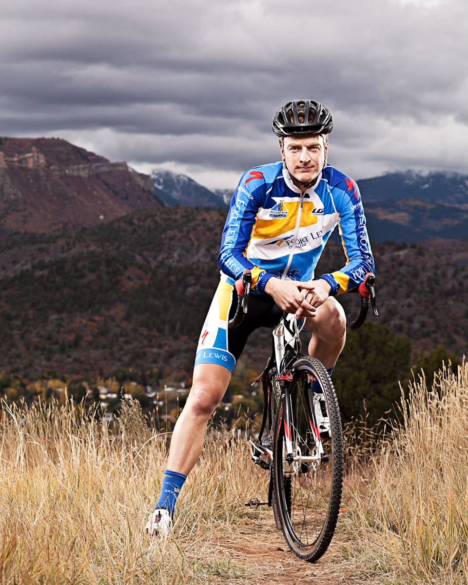 Cyclist portrait, Durango, Colorado